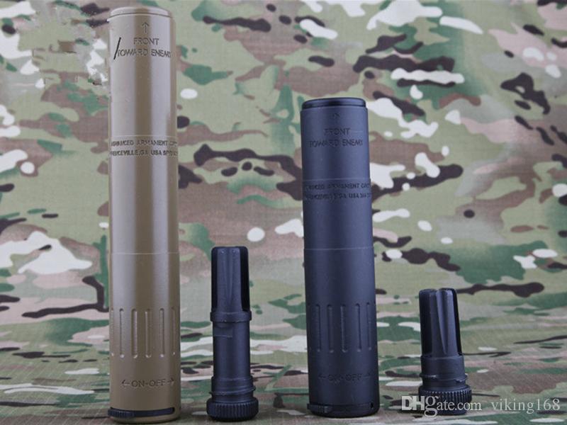 AAC M4-2000 Deluxe QD Muzzle Brake 14mm with QD Flash Hider 14mm negativeThread kit Toy's DE DE