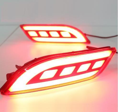 Para Jeep Compass 2017 2018 Multi-funções Car LED Luz Traseira Amortecedor Traseiro Da Lâmpada de Nevoeiro Auto Lâmpada de Luz de Freio Refletor