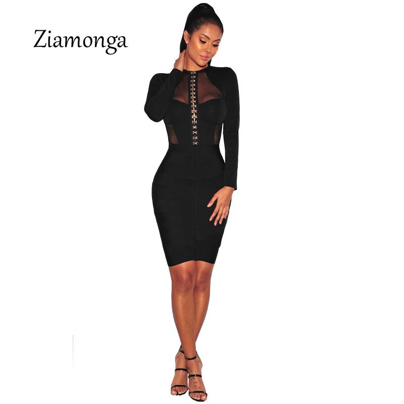 Jumpsuits Fashion Design Cropped Mesh Patchwork Long Sleeve Black Bodycon Playsuit Button Hook Unique Denim Women Short Bodysuit