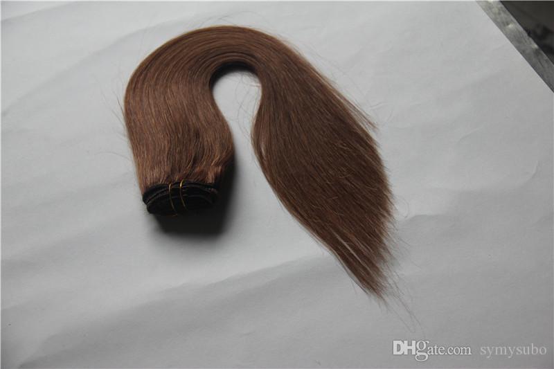 Extensiones peruanas baratas y delgadas del pelo Armadura del pelo humano del 100% Cabello sin procesar de la Virgen 6a que teje trama doble de 10-30 inchs