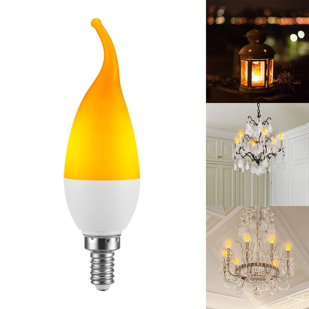 Mes Ampoules Led Scintillent acheter 3 modes led lampe À flamme 4w e12 led effet flamme feu ampoule  scintillement Émulation lumière ac 110v 220v pour halloween de noël de  32,46 €