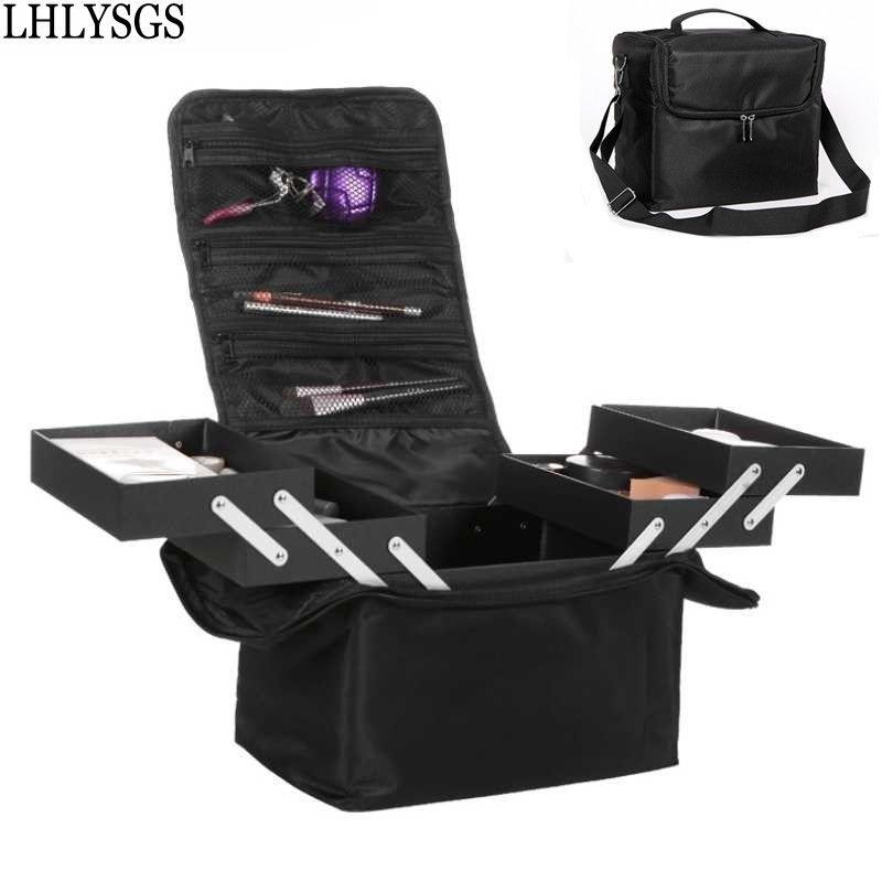 LHLYSGS donne trucco Organizzatore cassoni multistrato assicella cosmetico professionale Beauty Bag tatuaggi di arte del chiodo Bin