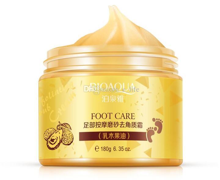 BIOAQUA 24K GOLD Shea Buttermassage Crema Peeling Renovación Máscara de Pie de Bebé Crema de Cuidado Suave Crema Exfoliante para Pie