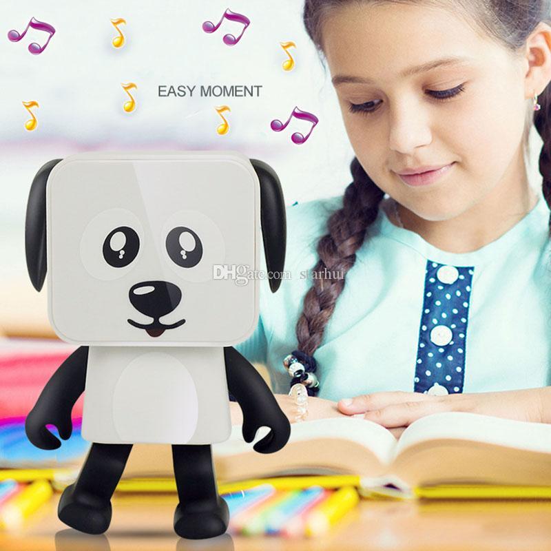 Favore di partito Mini Altoparlante Bluetooth senza fili Ballando Robot Cane Altoparlanti stereo bassi Passeggini elettronici Regali per bambini Altoparlante WX9-195