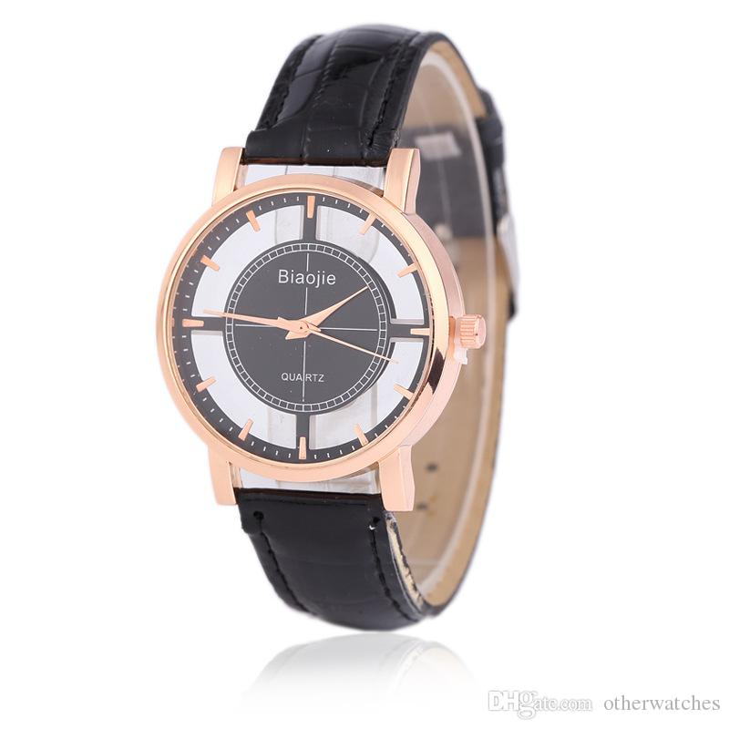Compass hollowing perspective nail fashion watch strap Lady Watch Wristwatches