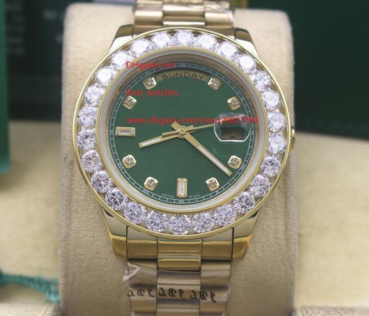 Fabrik-Lieferanten Luxuxqualitäts Armbanduhr 41mm DAY-DATE Grün Dial Asia 2813 Bewegung automatische mechanische Mens-Uhr-Uhren