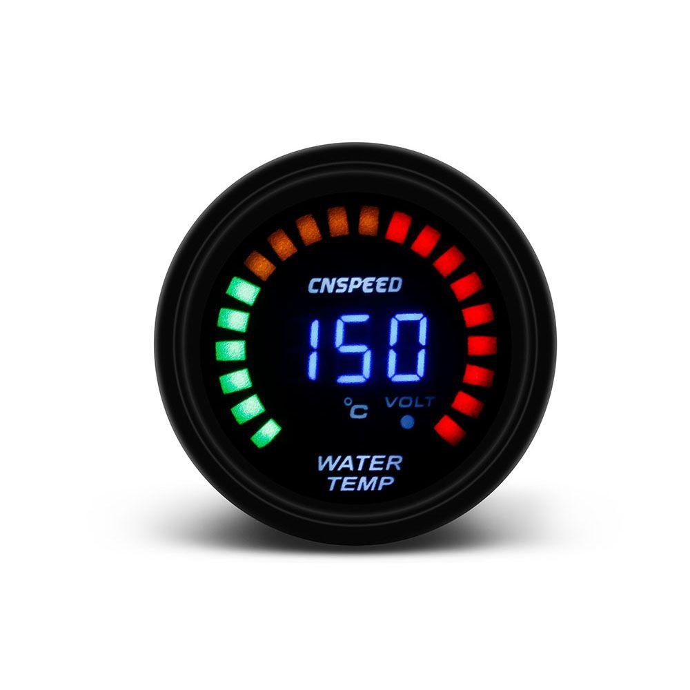 52mm Inside Outside Thermometer Digital Air temp Gauge Meter Blue LED