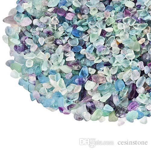 100g Fluorite Quartz Gravel Color crystal Decorate Aquarium Fish Tank Stone Tumbled Crushed Irregular Shaped Chips adorn Healing Rough