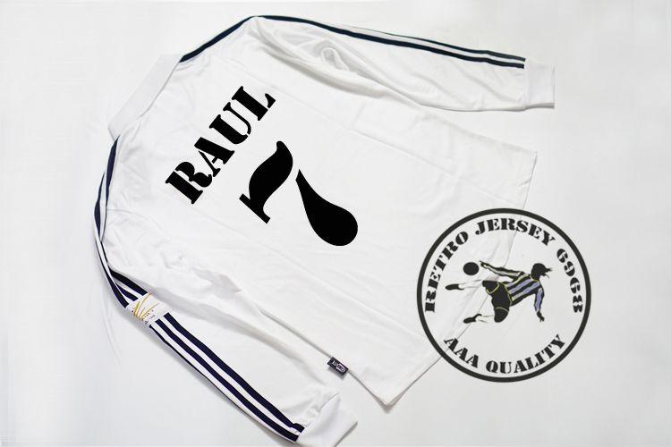 2002 финал Реал Мадрид полный футбол с длинными рукавами майки Зидан Карлос Рауль Роналду Иерро Солари фигу старые рубашки
