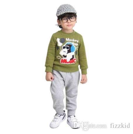Дети мальчики хлопок днища карманные шаровары милые малыши теплые брюки 2-7Y