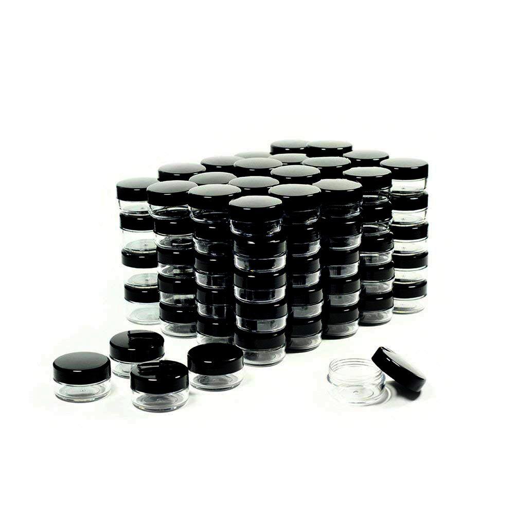 5 Gram Kozmetik Kapları Kapakları ile Örnek Kavanozlar Plastik Makyaj Konteynerleri Pot Kavanozları