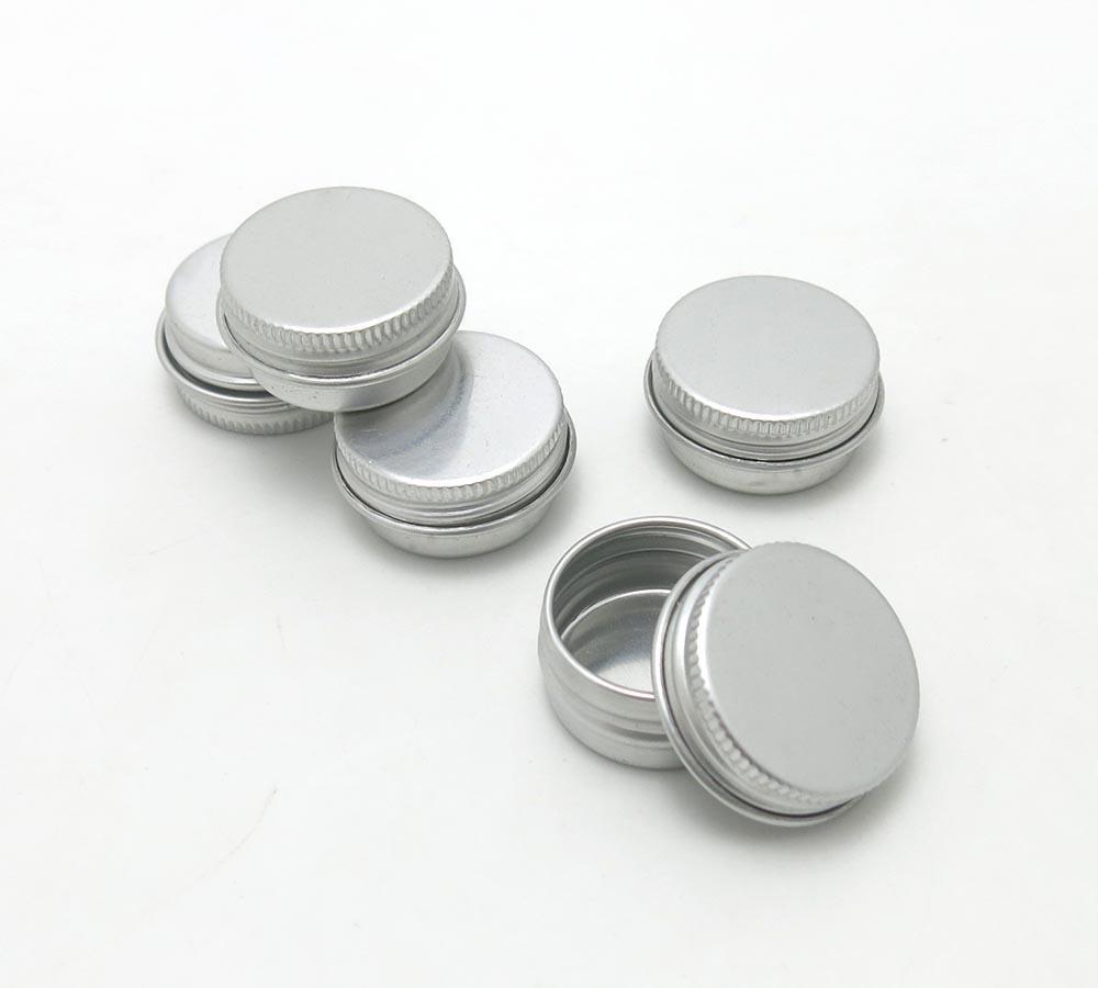 100 x 5G Seyahat Doldurulabilir Alüminyum Teneke Küçük Metal Kozmetik Ambalaj Kavanoz 1 / 6oz profesyonel kozmetik konteyner