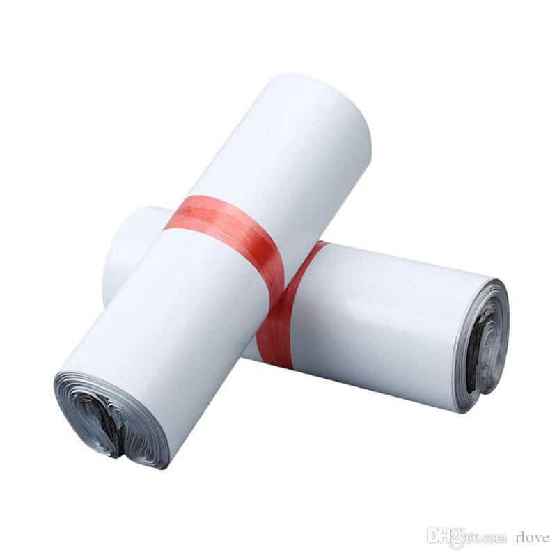 20x30cm Beyaz Kurye Torbaları Kurye Zarf Kargo Çanta Posta Çantası Depolama Plastik Poly Zarf Mailer Posta