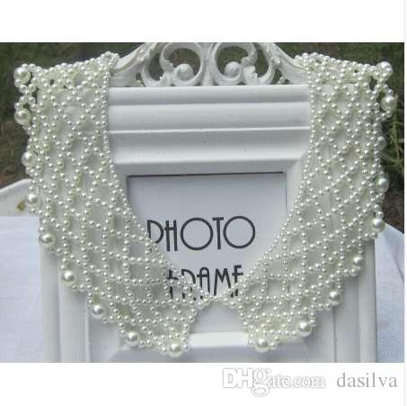 New Arrival Summer Fashion Handmade Imitation Pearl Fake Collar Necklace For Woman Clothes Accessory