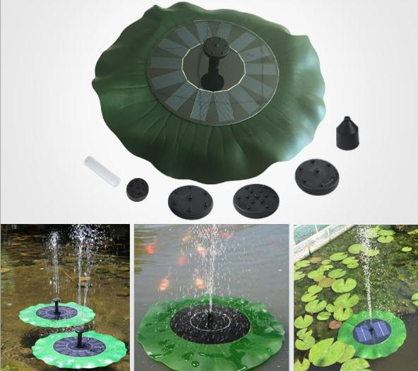 Solar Water Pump 7V Floating Waterpomp Panel Garden Plants Watering Power Fountain Pool Automatical for Fountains Waterfalls New c607