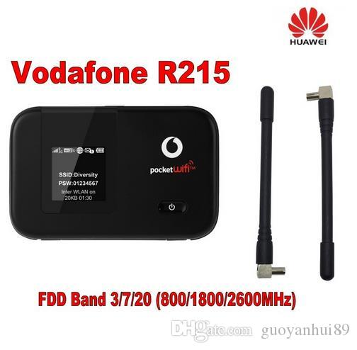 الأصلي فودافون R215 WIFI نقطة ساخنة 150Mbps LTE موبايل واي فاي راوتر بالإضافة إلى هوائي 2PCS 4G