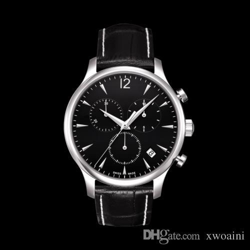 Montre chronographe pour homme de mouvement ETA Swisss Original 100% T063.617.16.057.00 T063 Gents Wristwatch Top marque de montres de luxe en cuir