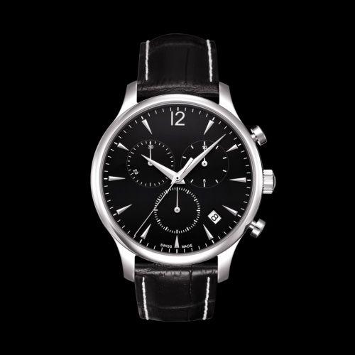 100% Original ETA Swisss Quarzwerk Herren Chronograph Uhr T063.617.16.057.00 T063 Herren Armbanduhr Top-Marke Luxus-Uhren Leder