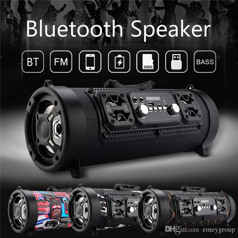 CH-M17 Portable 15W Big Power Outdoor Wireless Bluetooth Speaker Cool Graffiti Hip hop Style Subwoofer Support Mic/TF Card Play Music