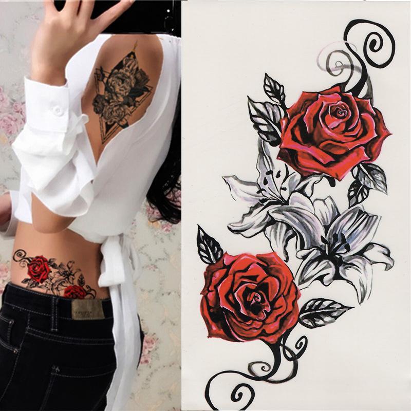 Frau unterarm rosen tattoo ▷ 150