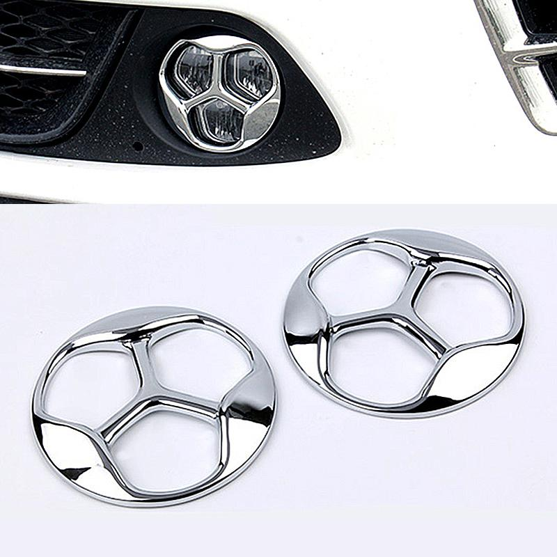 Car Accessories Abs Chrome Car Front Fog Lamp Light Cover Trim For