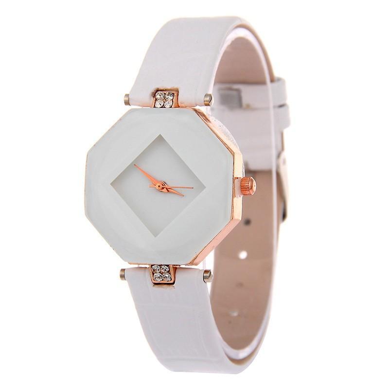 2018 Fashion Top  watch women's Black Stone Crystal Casual Bracelet Watch Women rhombus Wrist Watches Horloges Vrouwen