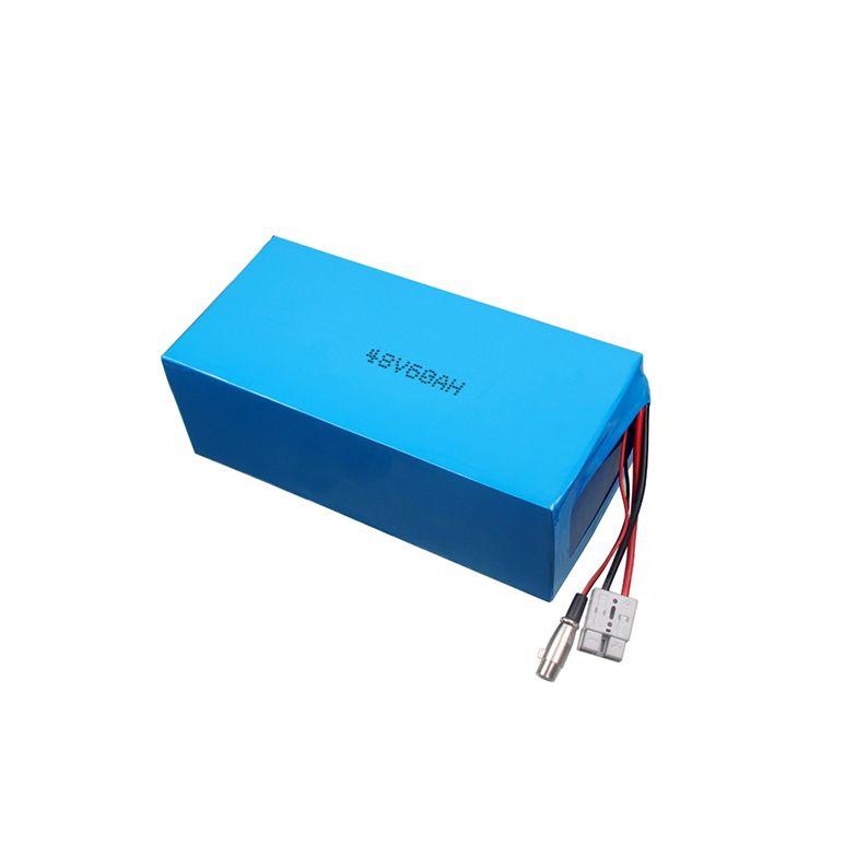 13S1P 48V 60Ah batterie pour moto électrique batterie de moto électrique avec batterie lipo haute capacité à l'intérieur