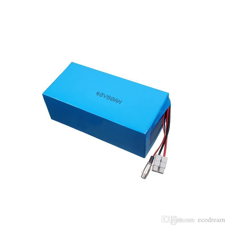 Batteria 13S1P 48V 60Ah per pacco batterie moto elettriche per motocicli con batteria interna ad alta capacità