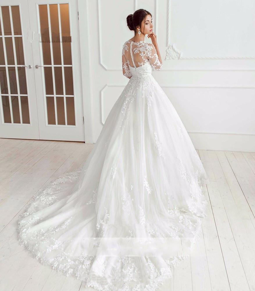 Korean Wedding Dress Vestido De Noiva Vintage Princess Wedding ...