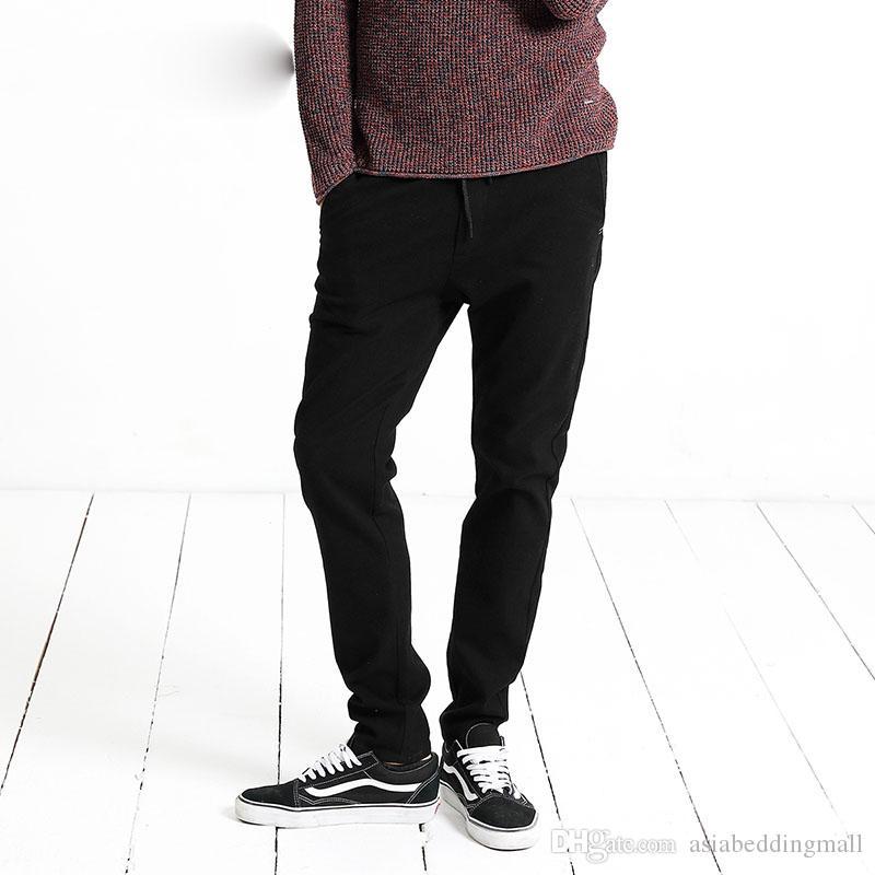 Sarouel Hommes Printemps Hiver Noir Causal Pants Hommes Pantalon Coton Plus Size Pantalon de Jogging