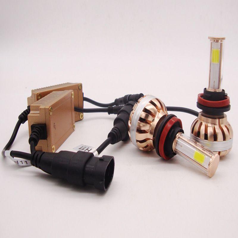120W 12000LM H1 H4 H7 H11 9005 9006 9007 Turbo Kit de conversion de phare LED Lumen 6000k Lampe de brouillard blanche