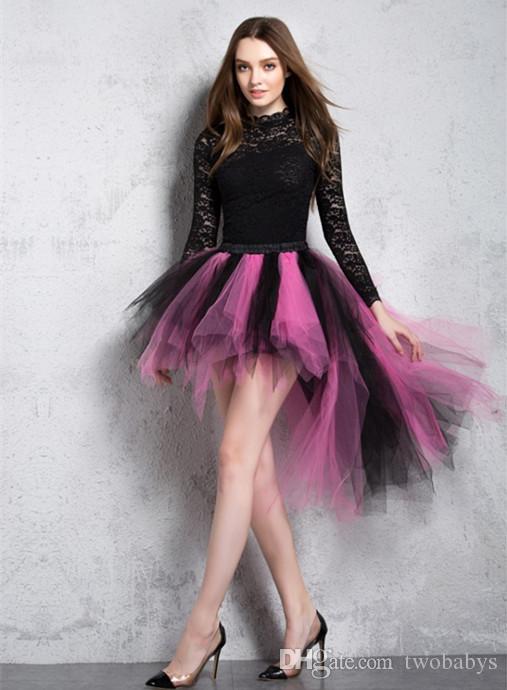 В наличии Смешанные цветные юбки красочные TUTU Tulle юбки юбки для свадебных платьев Prom Party