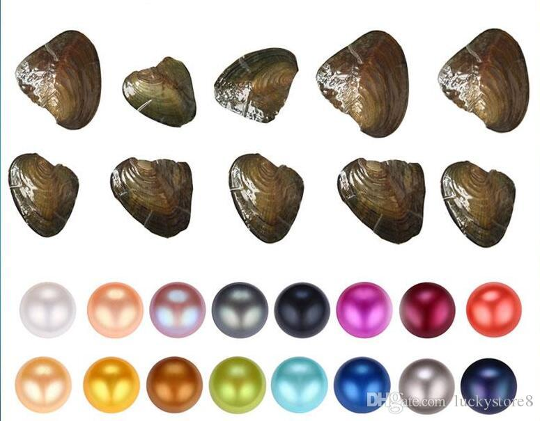 Regalo de lujo Akoya Pearl Alta Calidad Barato Amor Cáscara de agua dulce Pearl Oyster 6-7mm Colores mixtos Pearl Oyster con envasado al vacío Bueno
