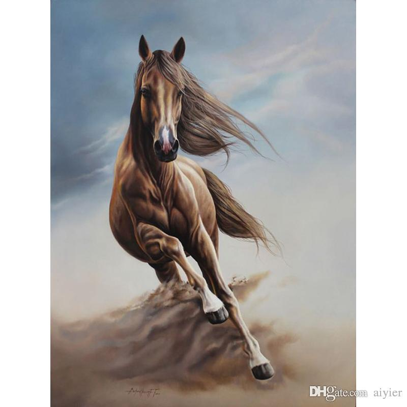 Пустыня сильная лошадь 5D DIY Алмаз живопись полный квадратный круглый вышивка мозаика рисунок искусство мода ремесла подарки главная партия украшения