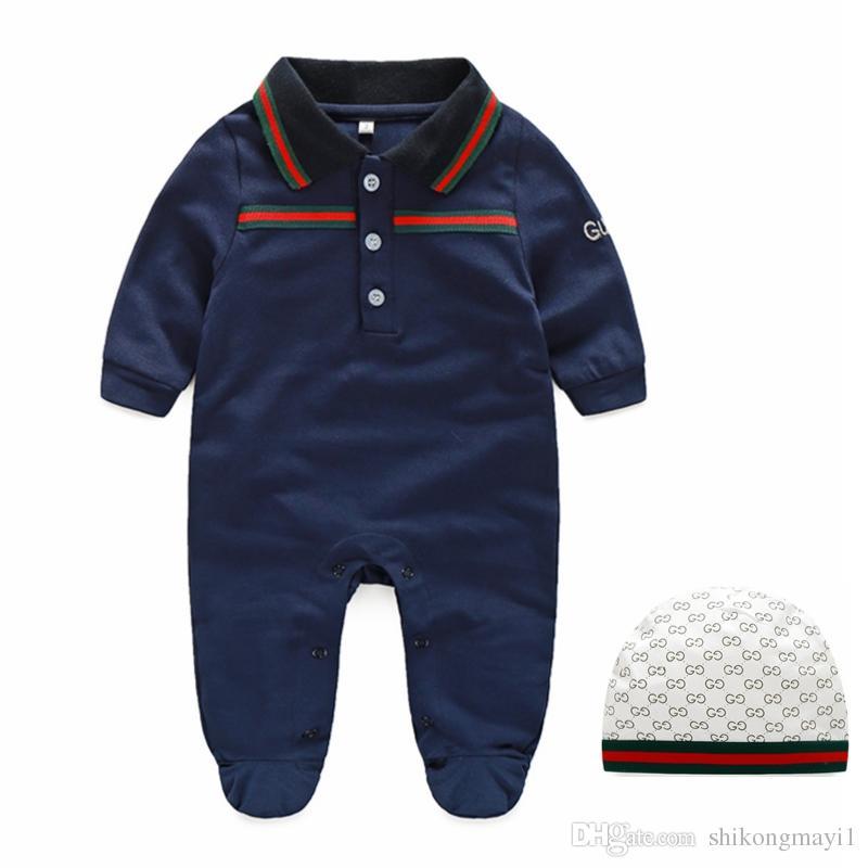 Yenidoğan bebek giysileri% 100% Pamuk Uzun Kollu Bahar Sonbahar Bebek Tulum Yumuşak Bebek Giyim toddler erkek bebek kız tulumlar