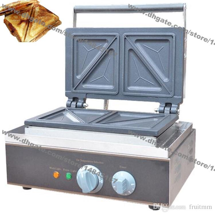 Stainless Steel Commercial Use Non Stick 110v 220v Electric Sandwich Grill Toaster Press Maker Machine Baker