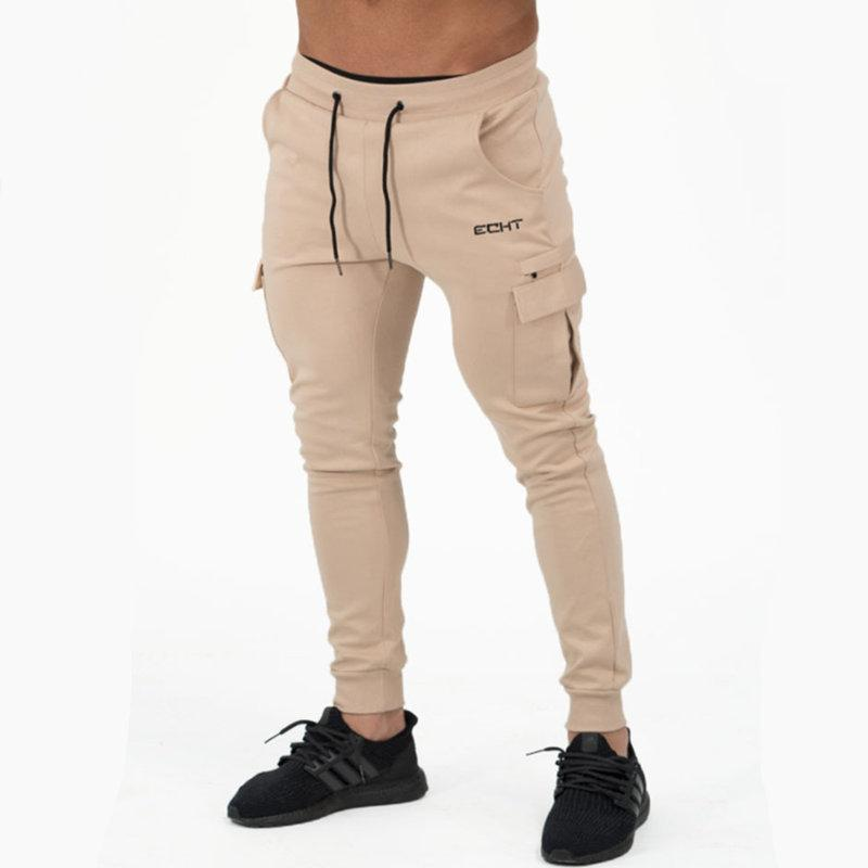 Mens algodão elástico na cintura moletom homem estilo outono inverno ginásios calças de fitness corredores treino marca sportswear calças lápis y1892811