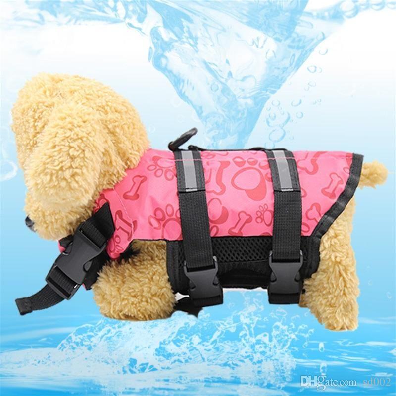 Suprimentos para animais de Estimação Colete Salva-vidas Cor do Verão Roupas de Cão Maiô Acessórios de Vários Tamanhos Fácil de Usar Fácil de Transportar 20gg5 cc