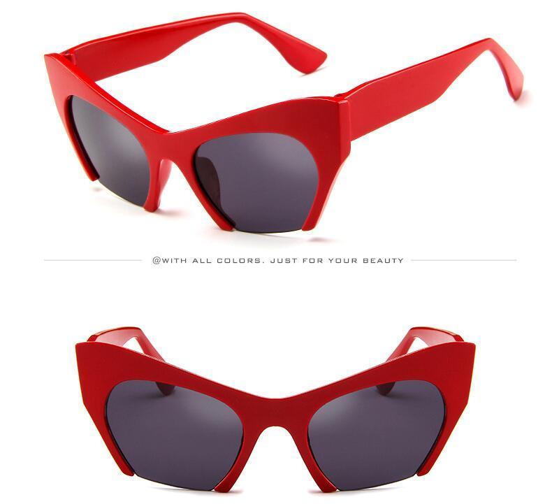 Espelho de Marca Designer de Óculos De Sol Óculos De Sol Das Mulheres Quadro de Moda Rosa Óculos De Sol Das Mulheres Top Marca de Design Feminino Eyewear 2018