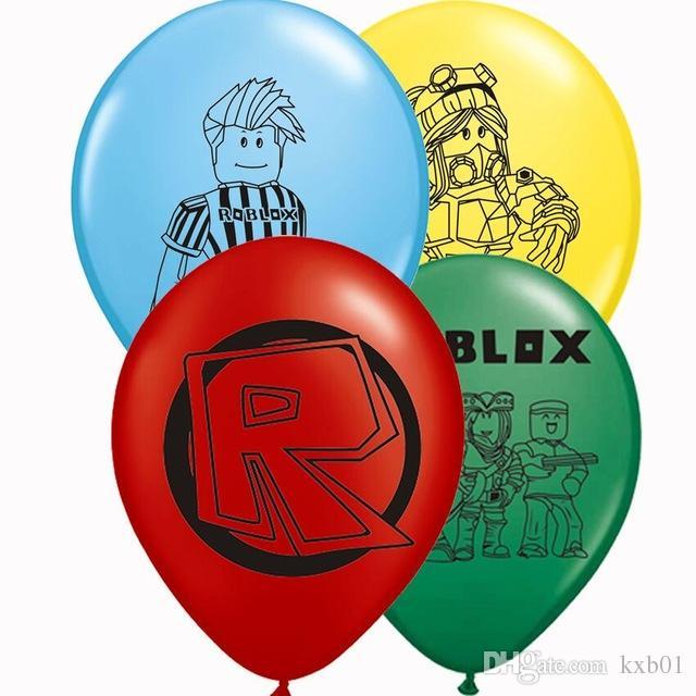 """500 pcs Balões De Látex Roblox Hot 12 """"Jogo Modelo de Brinquedo Bola de Brinquedo Folha Balão de Aniversário Favor Decorações de Festa de Crianças Melhor Presente"""
