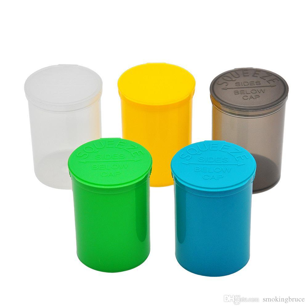 30 DRAM 빈 스퀴즈 팝 탑 병 - 바이알 방수 밀폐 허브 알약 상자 컨테이너 허브 컨테이너 색상 무작위