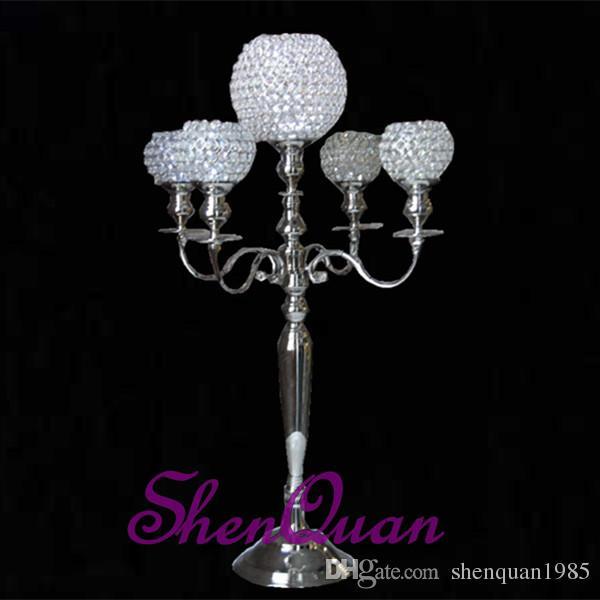 candelabro a 5 bracci in cristallo candelabro a 5 braccia in cristallo di cristallo di loto prezzo moderno facrory