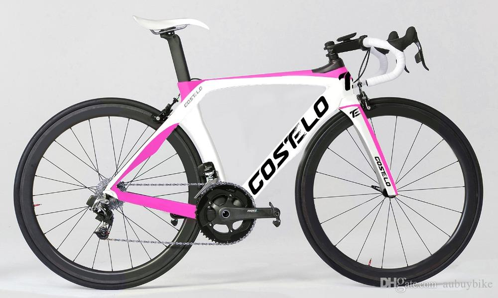 Costelo RB 1K THE ONE ROAD BICYCLE carbon fiber road bike frame fork clamp seatpost Carbon Road bicycle Frame direct mount brake