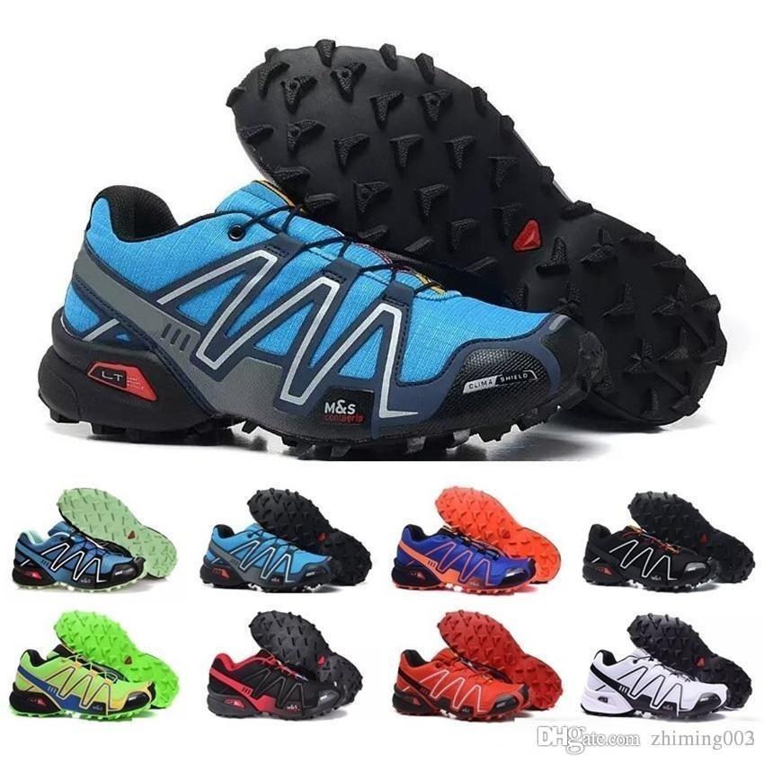 Original 2018 zapatillas speedcross 3 tênis homens andando ourdoor esporte sapatos velocidade cruz athletic tênis para caminhada tênis tamanho 40-46 Salomon solomon CS