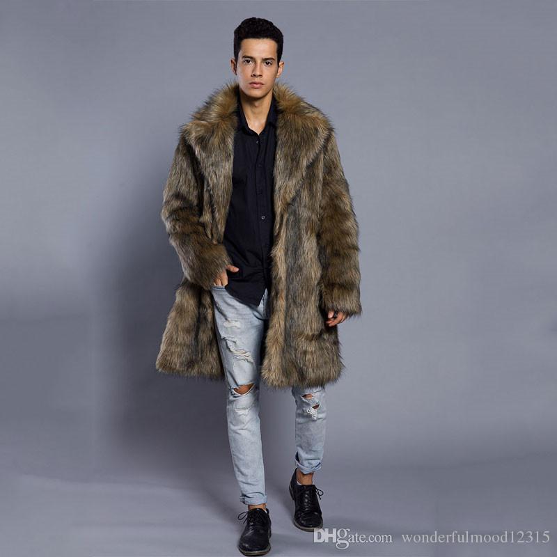 новых людей способа искусственного меха пальто осень и зима одежда Длинная ветровка норка куртка искусственного меха