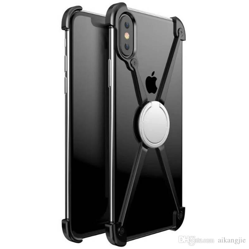 buy online 1cc1f a5dc1 Fashion X Shape Ring Holder Case For IPhone X Personality Shell For IPhone  X Case Metal Bumper For IPhoneX Cell Phone Case Mobile Phone Cases From ...
