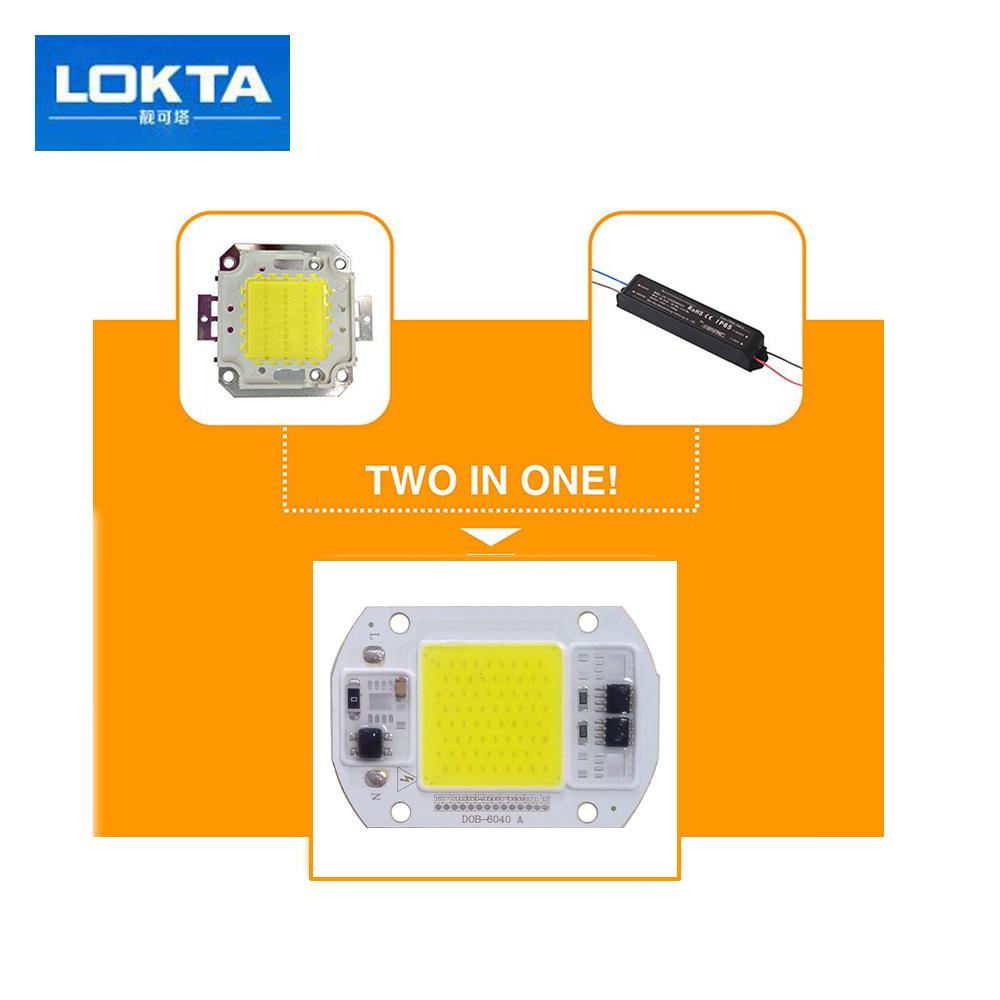 30PCS / LOT COB LED مصباح رقاقة 15W 25W 220V الذكية IC سائق صالح للأضواء ديي الكاشف