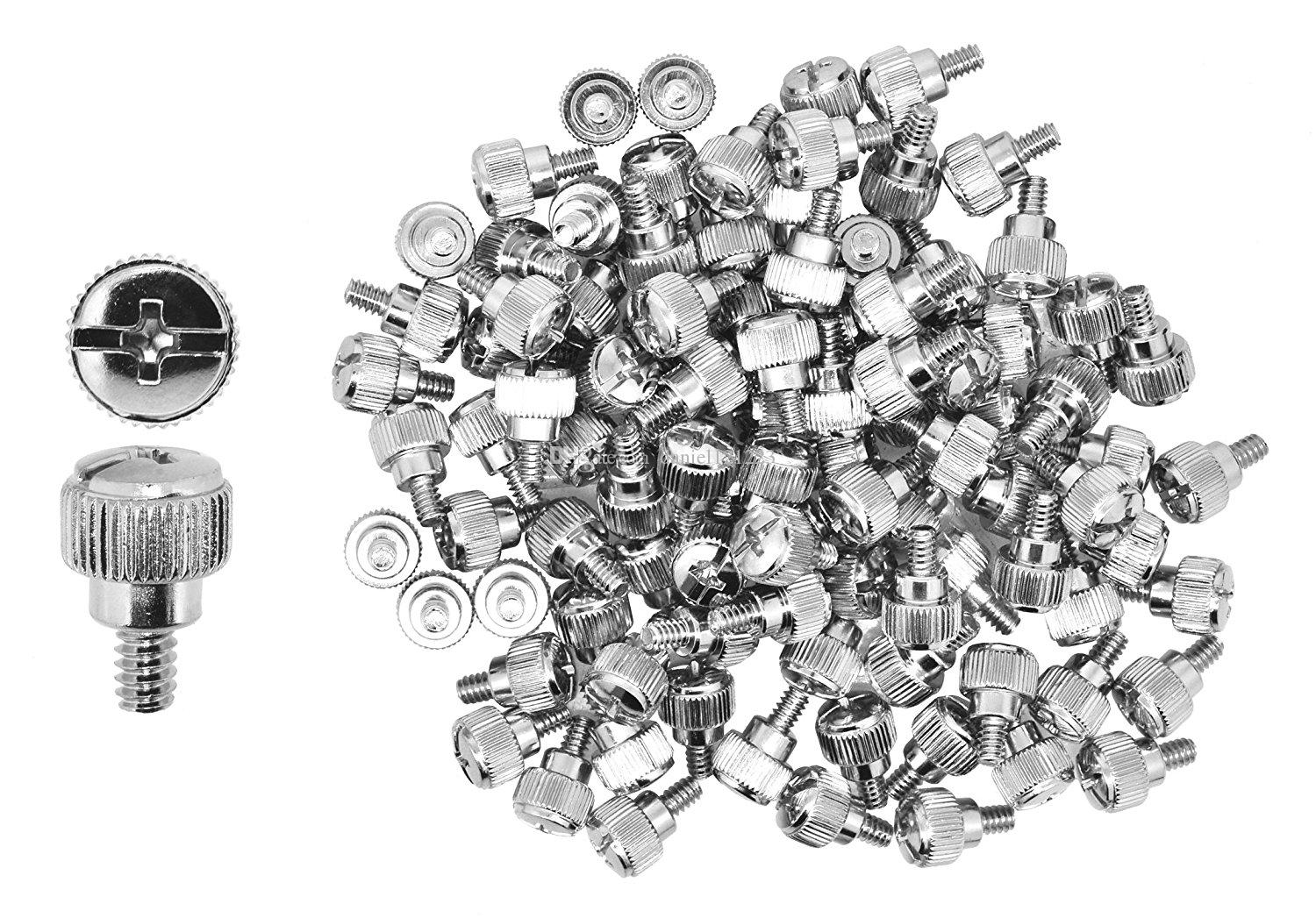 Mudra Crafts Desktop PC Computer Building Case 6-32 Repair Mounting Thumb Screw Assortment Kit, 50 PCs (Silver Chrome)