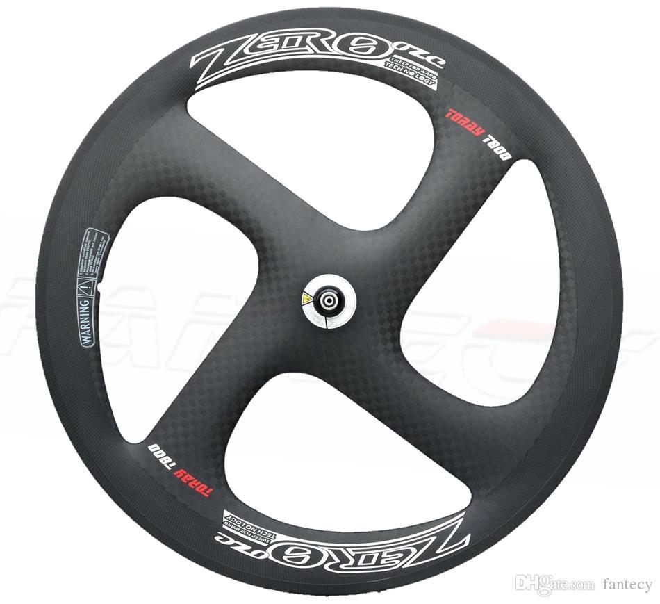 F700c road bike four-spoke carbon wheels 56mm tubular fixed gear wheel high quality tubular for Time Trial Bike Wheel with 3K matte finish