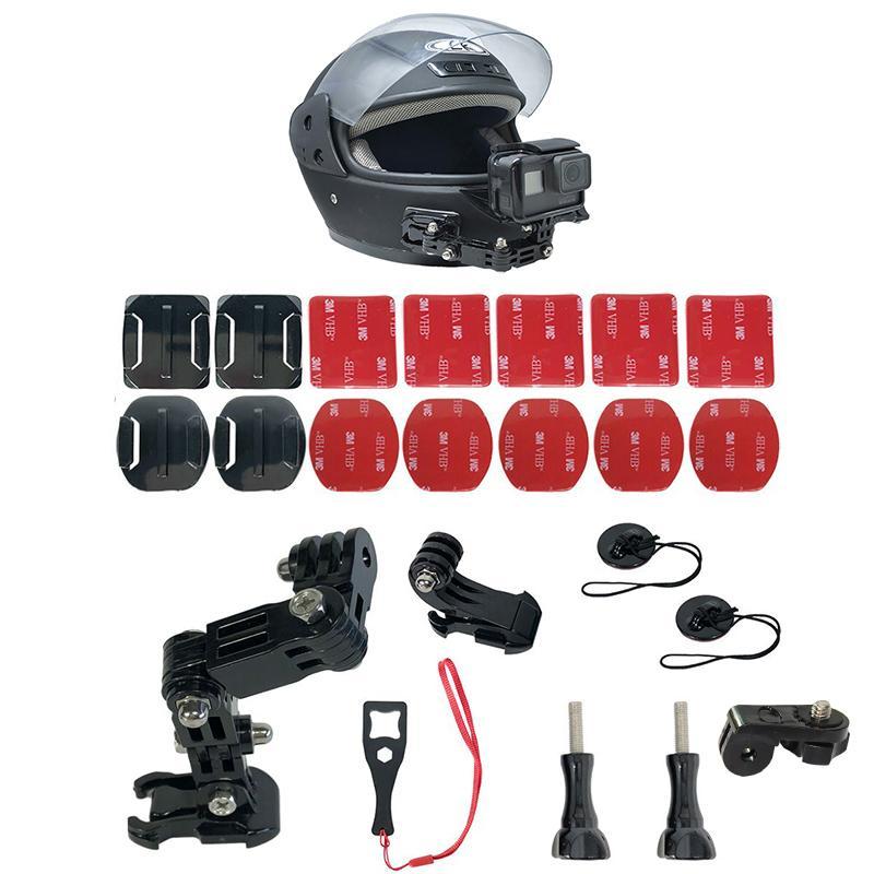3//SJCam//sesión de XIAOMI yi//5 4 3 Kit de montaje frontal de casco para GOPRO HERO 7 6 5 4